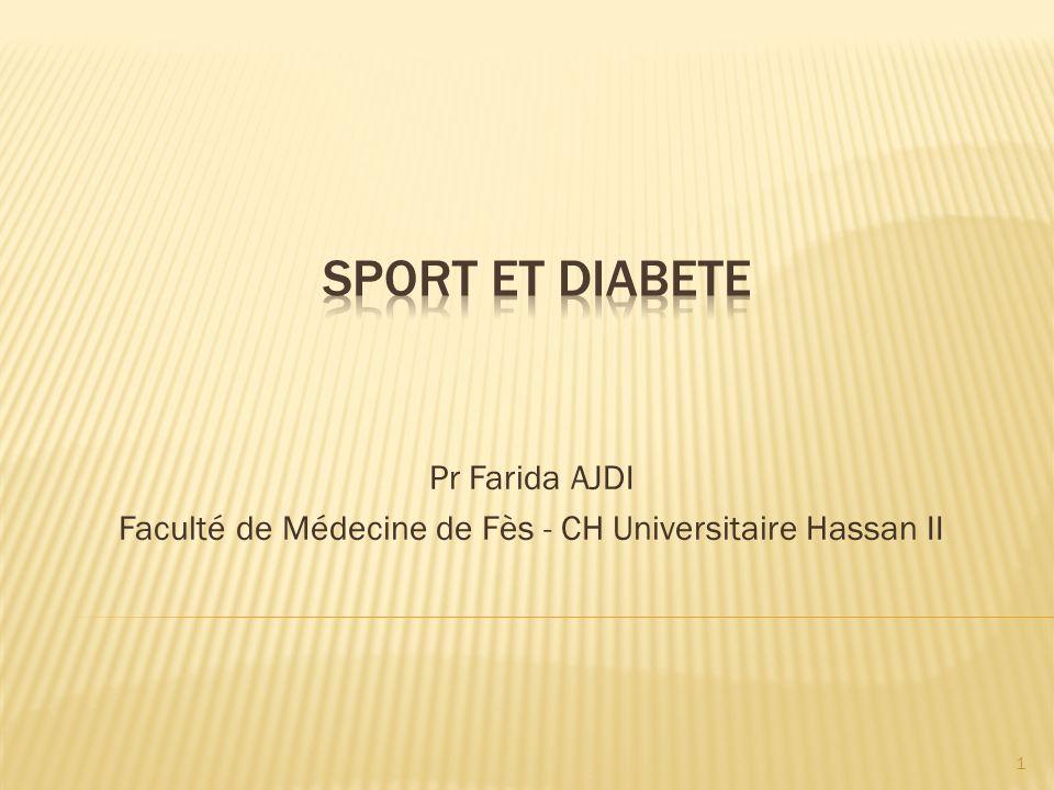Pr Farida AJDI Faculté de Médecine de Fès - CH Universitaire Hassan II 1