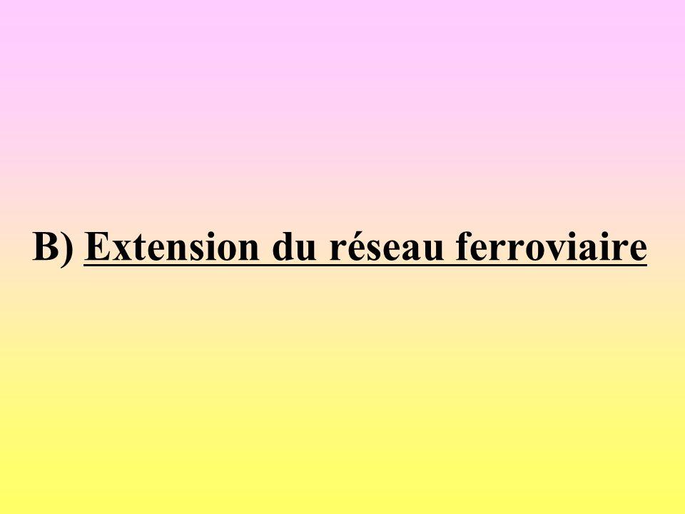 B) Extension du réseau ferroviaire