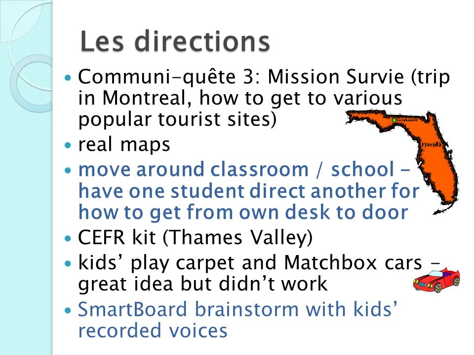 Les directions Communi-quête 3: Mission Survie (trip in Montreal, how to get to various popular tourist sites) real maps move around classroom / schoo