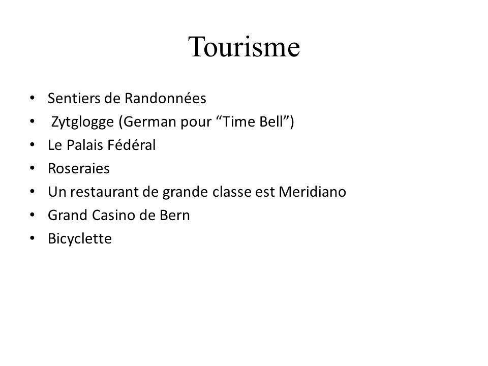 Tourisme Sentiers de Randonnées Zytglogge (German pour Time Bell) Le Palais Fédéral Roseraies Un restaurant de grande classe est Meridiano Grand Casin