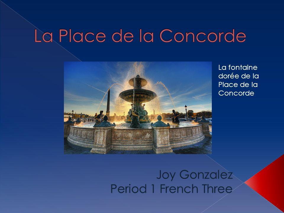 La fontaine dorée de la Place de la Concorde