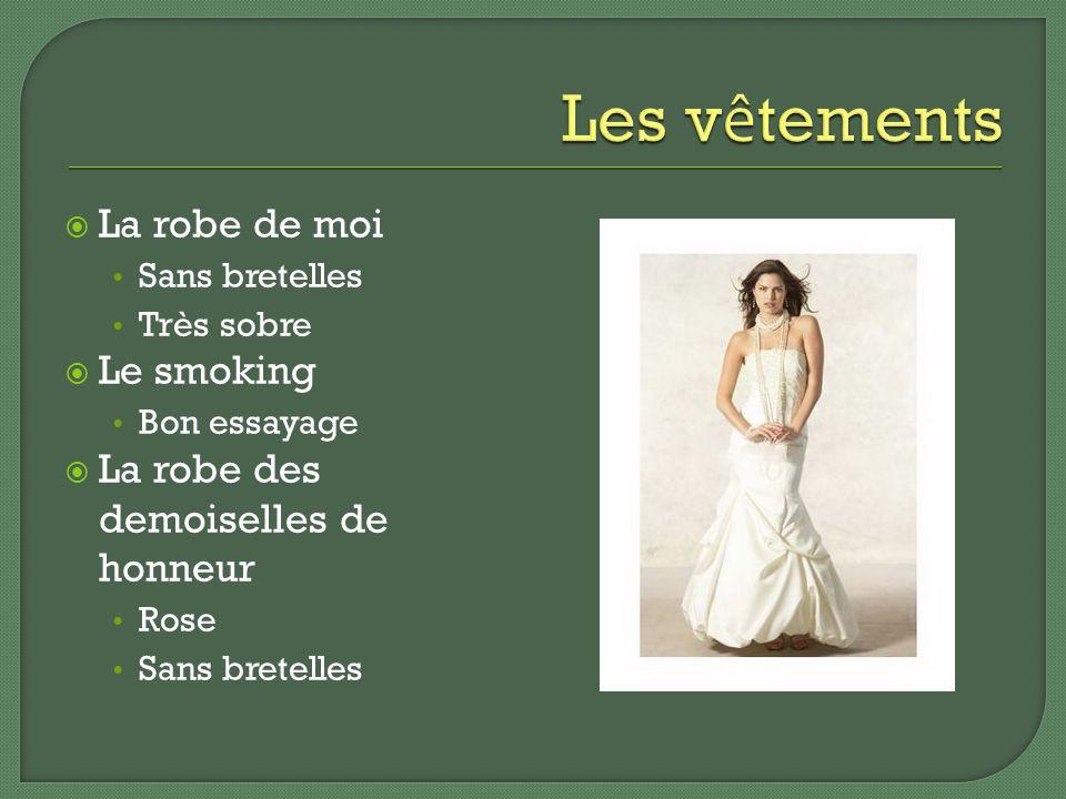 La robe de moi Sans bretelles Très sobre Le smoking Bon essayage La robe des demoiselles de honneur Rose Sans bretelles
