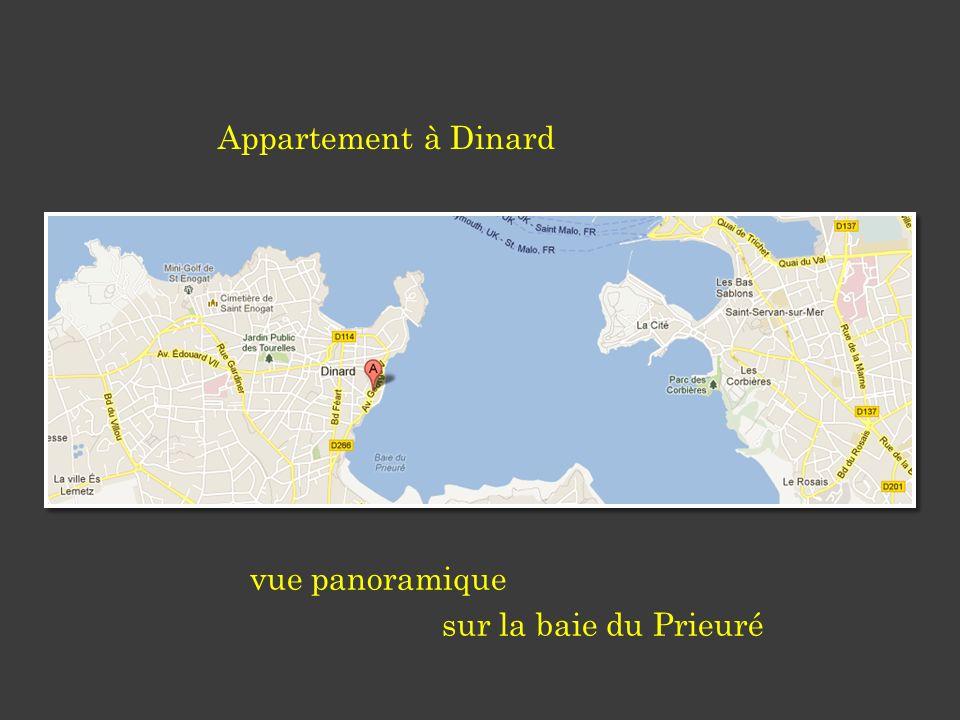 vue panoramique sur la baie du Prieuré Appartement à Dinard