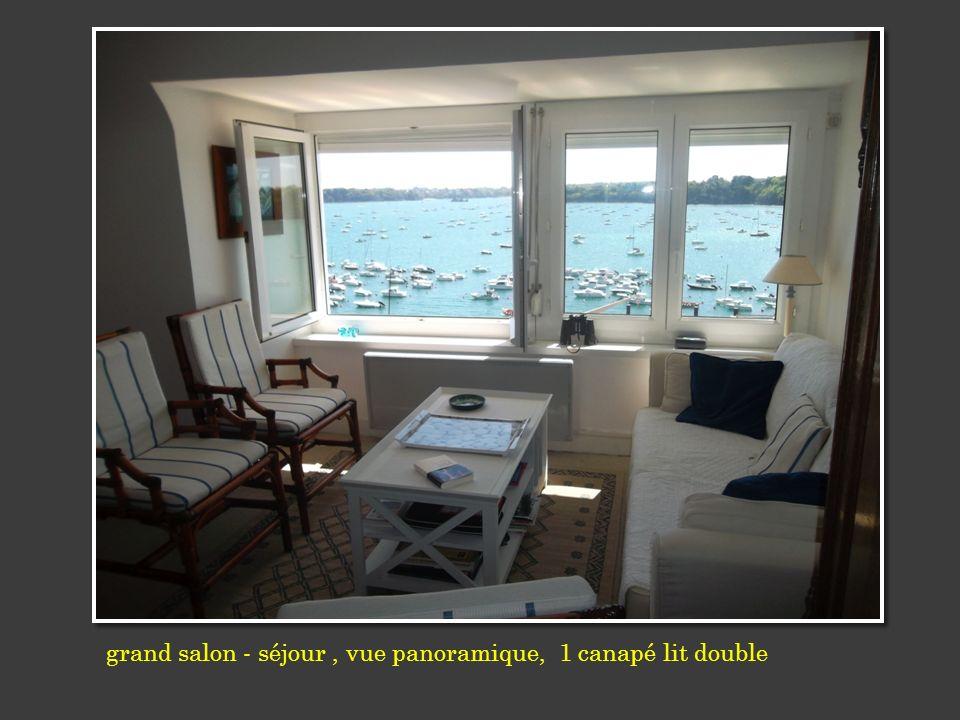 grand salon - séjour, vue panoramique, 1 canapé lit double