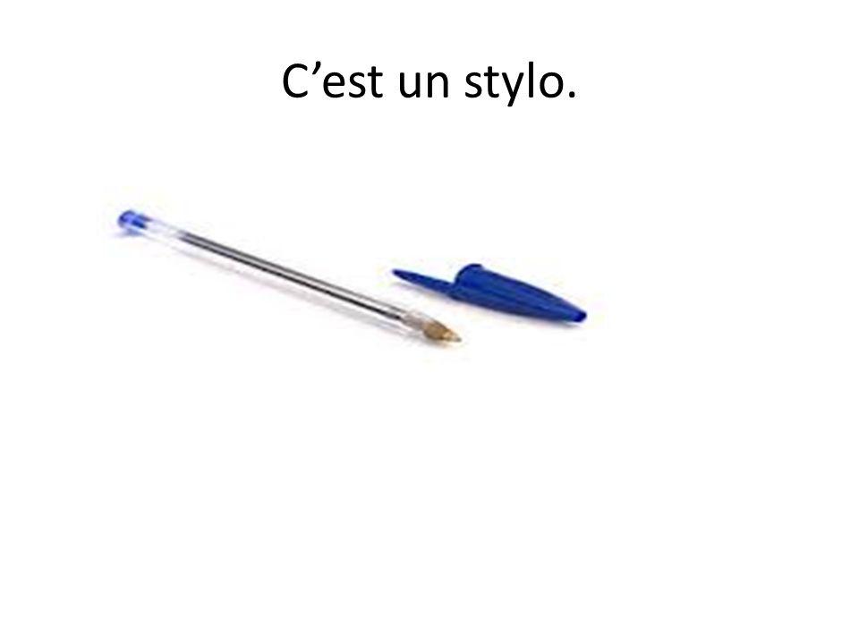 Cest un stylo.