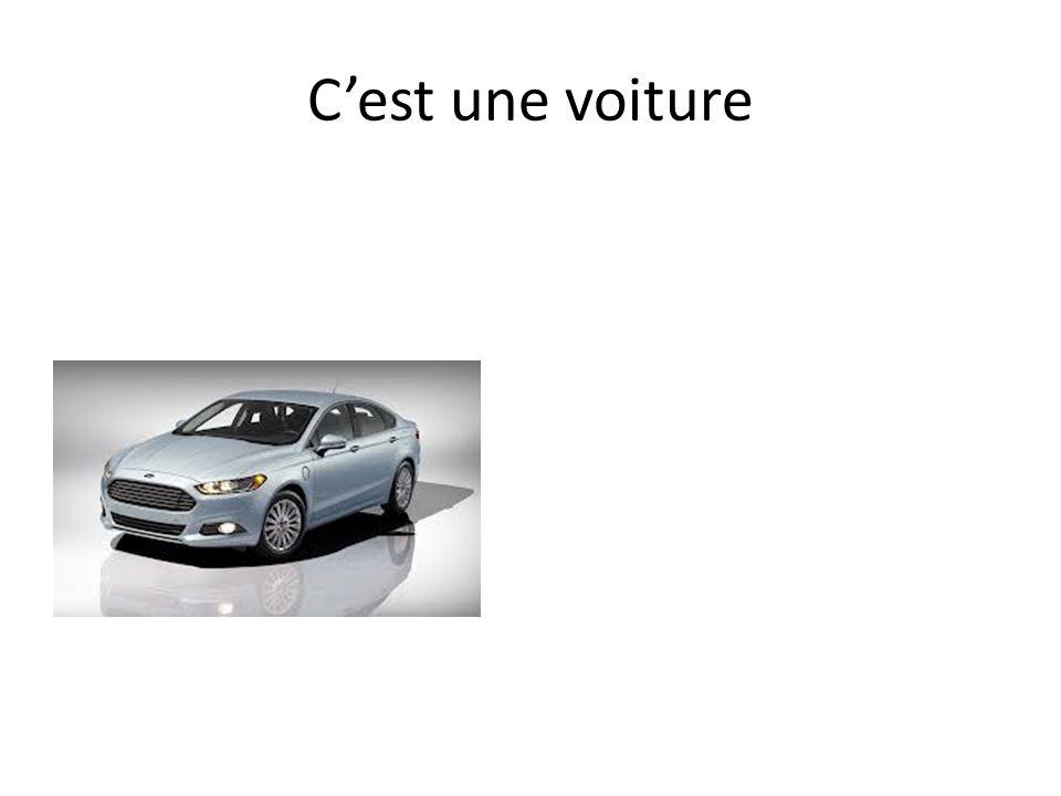 Cest une voiture