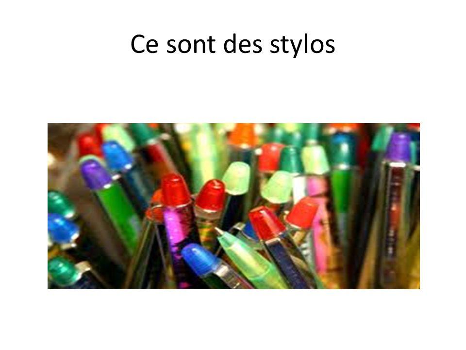 Ce sont des stylos