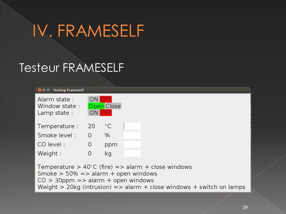 Testeur FRAMESELF 39