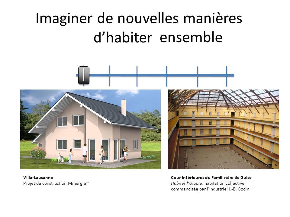 Imaginer de nouvelles manières dhabiter ensemble Villa-Lausanne Projet de construction Minergie Cour intérieures du Familistère de Guise Habiter lUtop