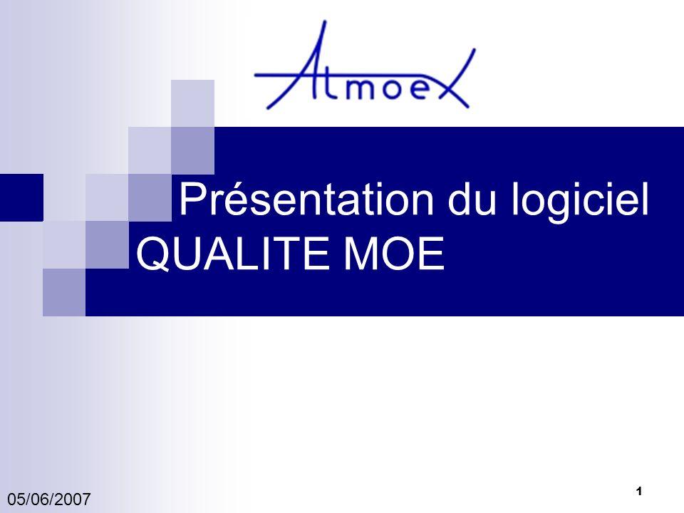 1 Présentation du logiciel QUALITE MOE 05/06/2007