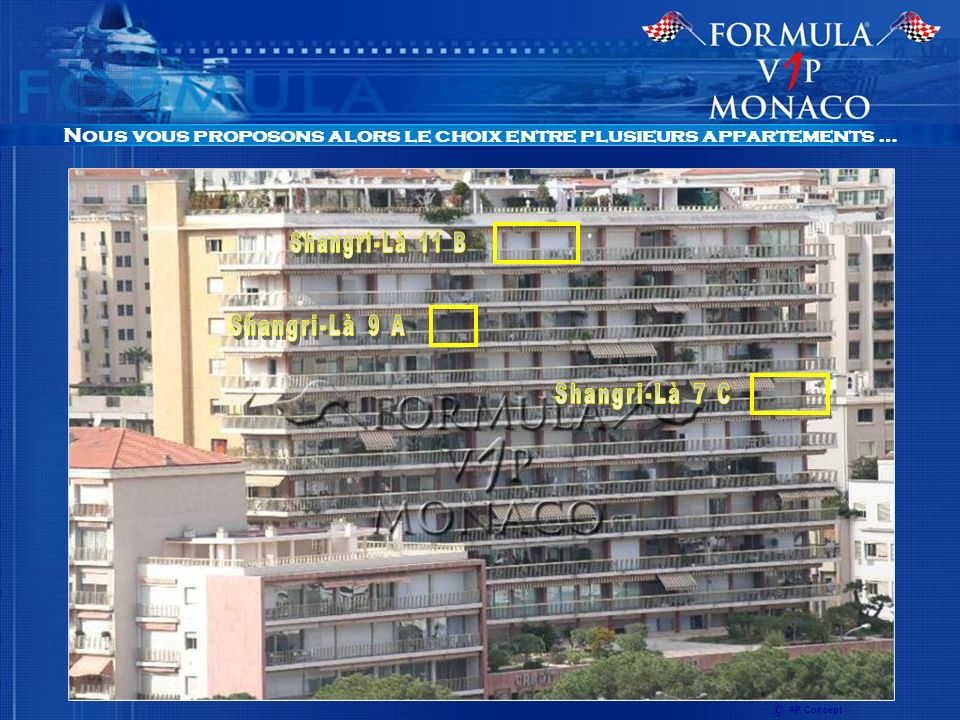 Nous vous proposons alors le choix entre plusieurs appartements … © AP Concept