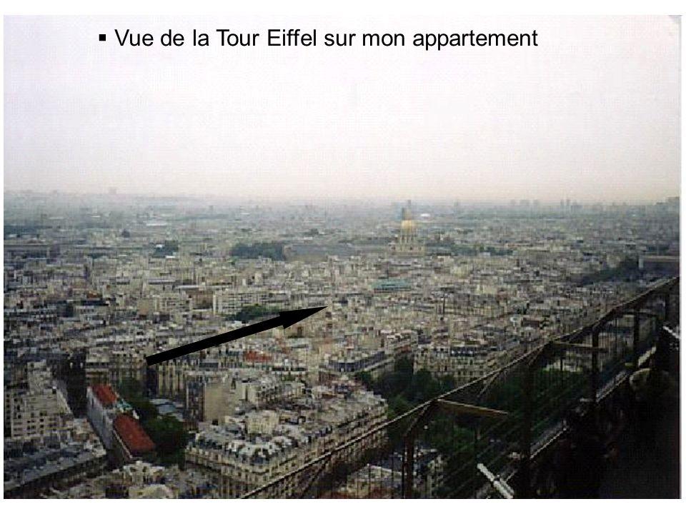 Vue de la Tour Eiffel sur mon appartement