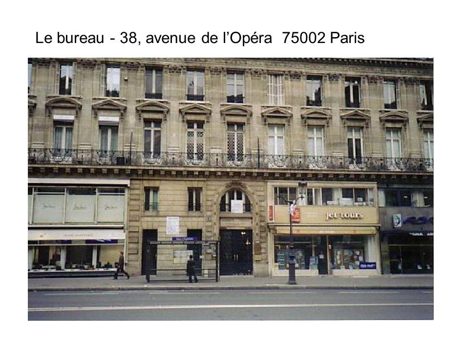 Le bureau - 38, avenue de lOpéra 75002 Paris