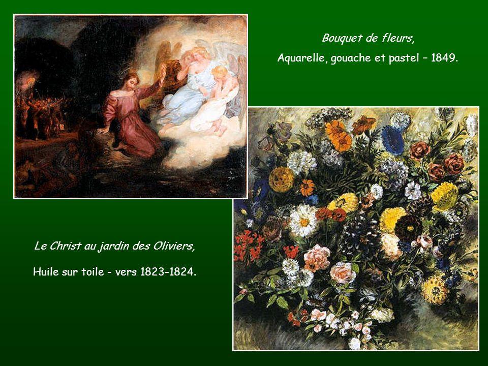 Table à peinture de Delacroix. Un buste de Delacroix.