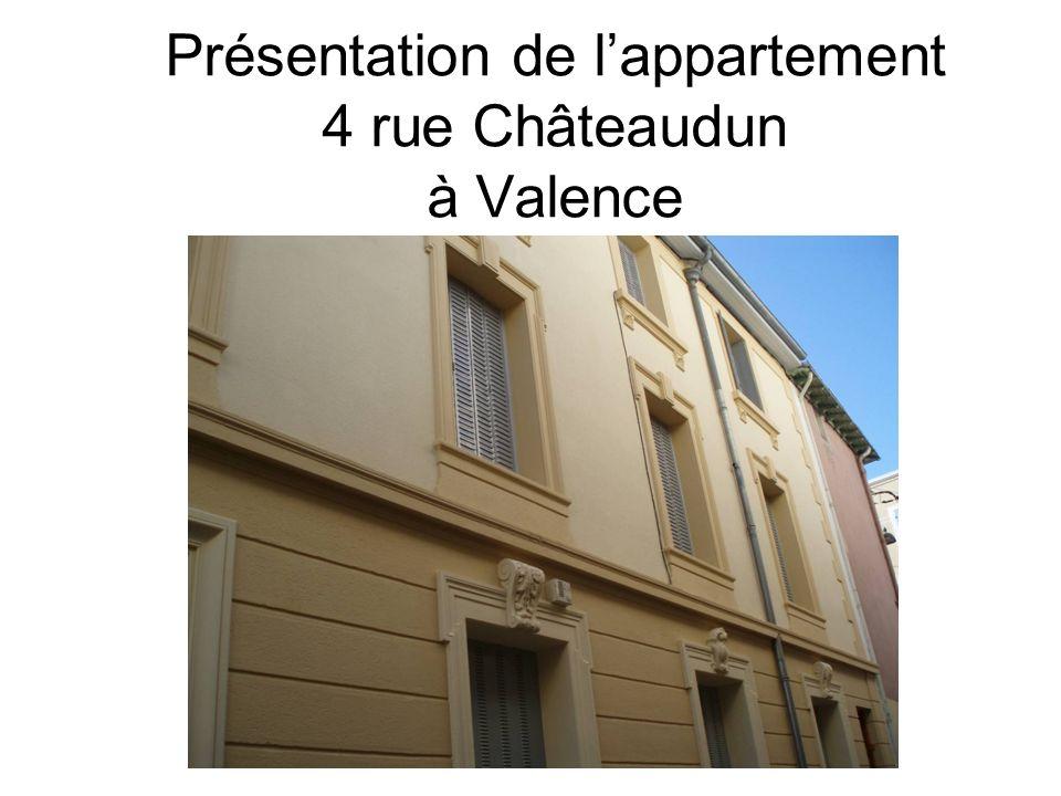 Présentation de lappartement 4 rue Châteaudun à Valence