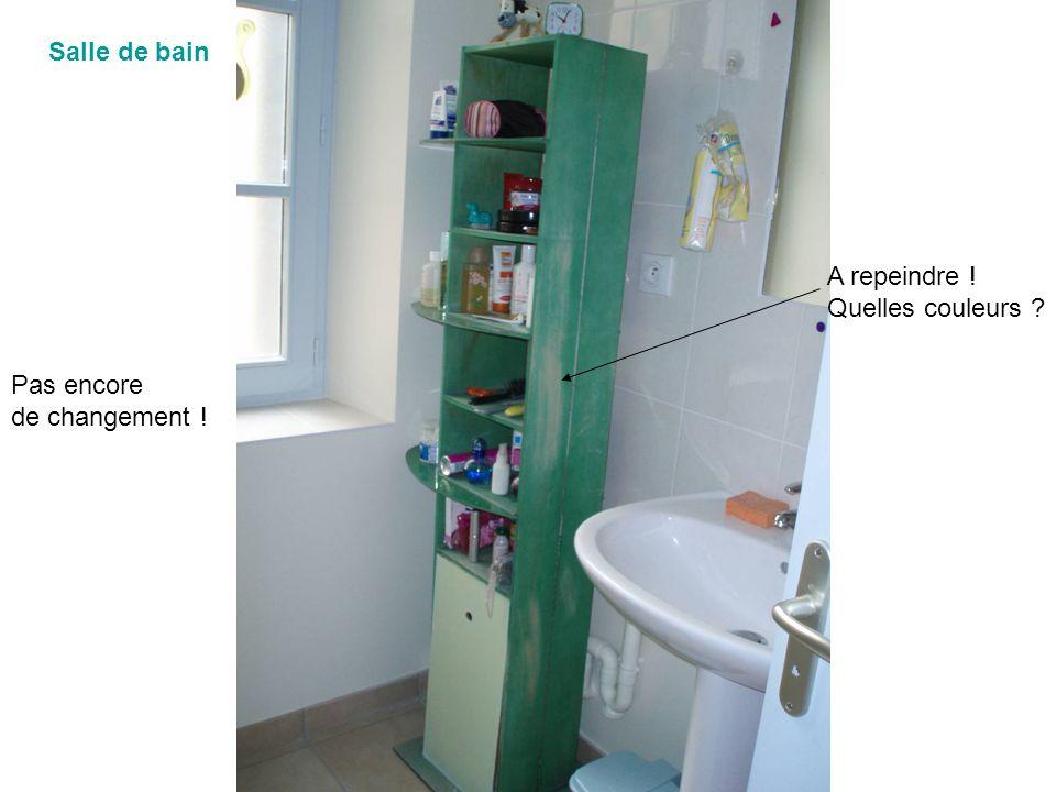 Salle de bain Pas encore de changement ! A repeindre ! Quelles couleurs