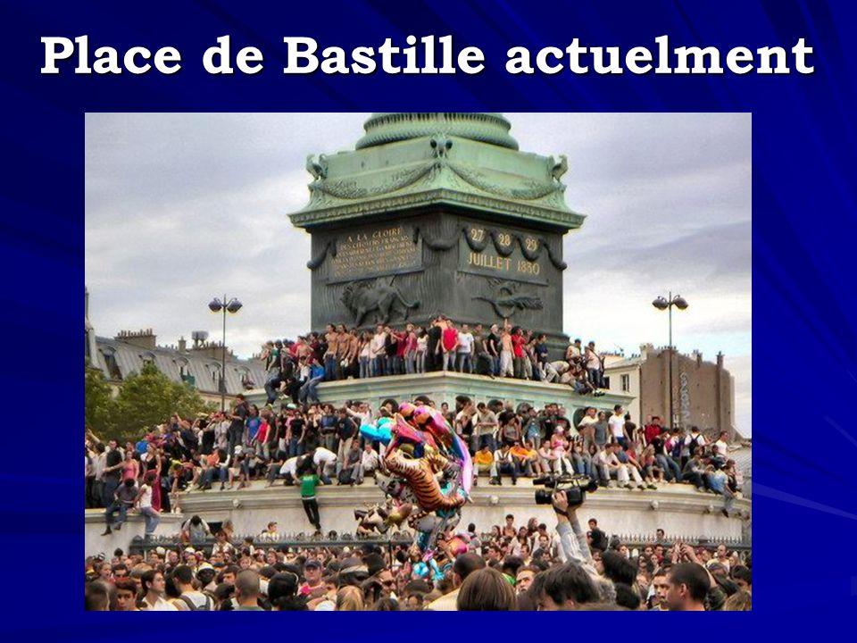 Place de Bastille actuelment