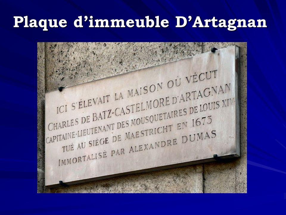 Plaque dimmeuble DArtagnan