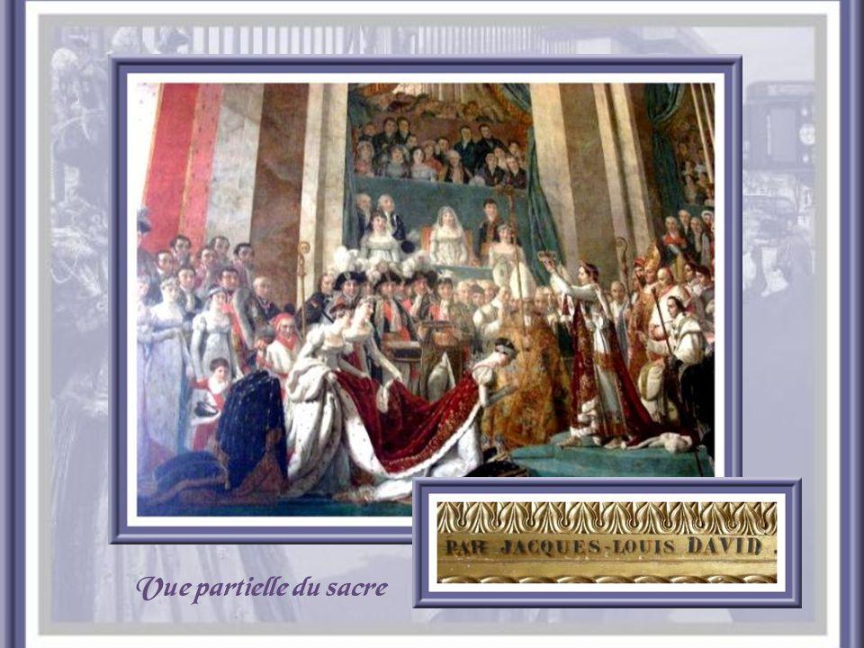 Lorsquil installa son musée, Louis- Philippe consacra une pièce, appelée « Salle du Sacre », à Napoléon Ier. Elle est décorée dune grande toile de Dav