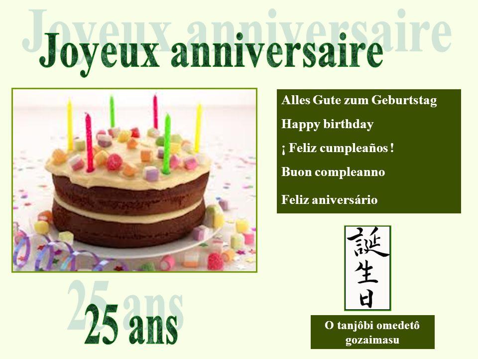 Alles Gute zum Geburtstag Happy birthday ¡ Feliz cumpleaños .