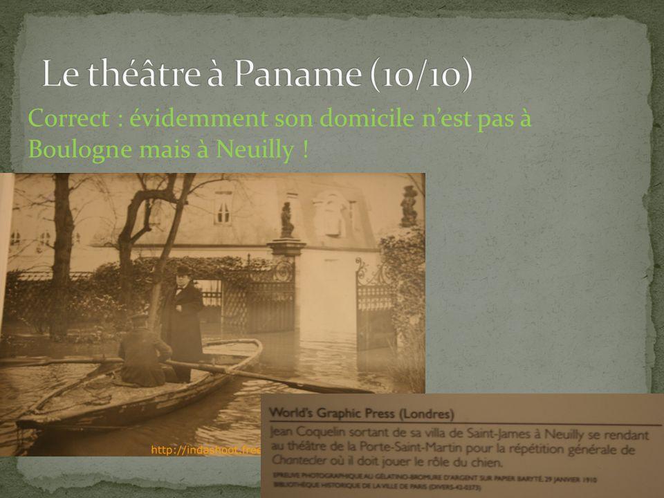Correct : évidemment son domicile nest pas à Boulogne mais à Neuilly ! http://indashoot.free.fr