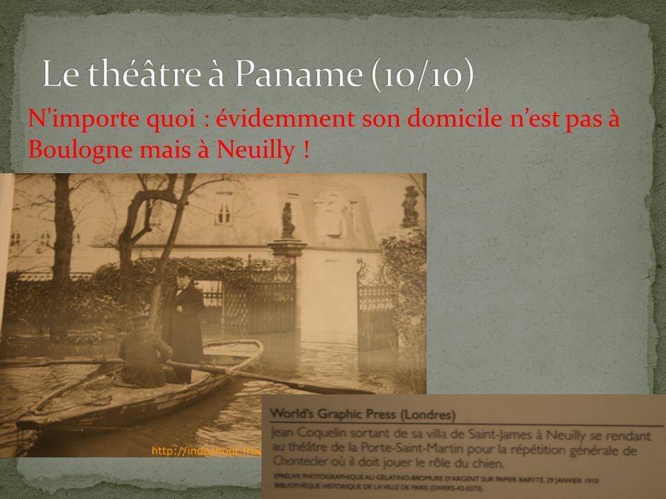 N importe quoi : évidemment son domicile nest pas à Boulogne mais à Neuilly .