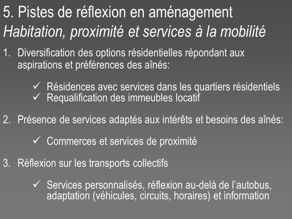 1.Diversification des options résidentielles répondant aux aspirations et préférences des aînés: Résidences avec services dans les quartiers résidenti