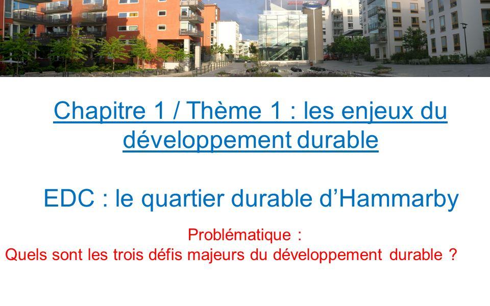 Fiche élève / Thème 1 : Les enjeux du développement durable Savoirs : - Quels sont les trois piliers du développement durable .