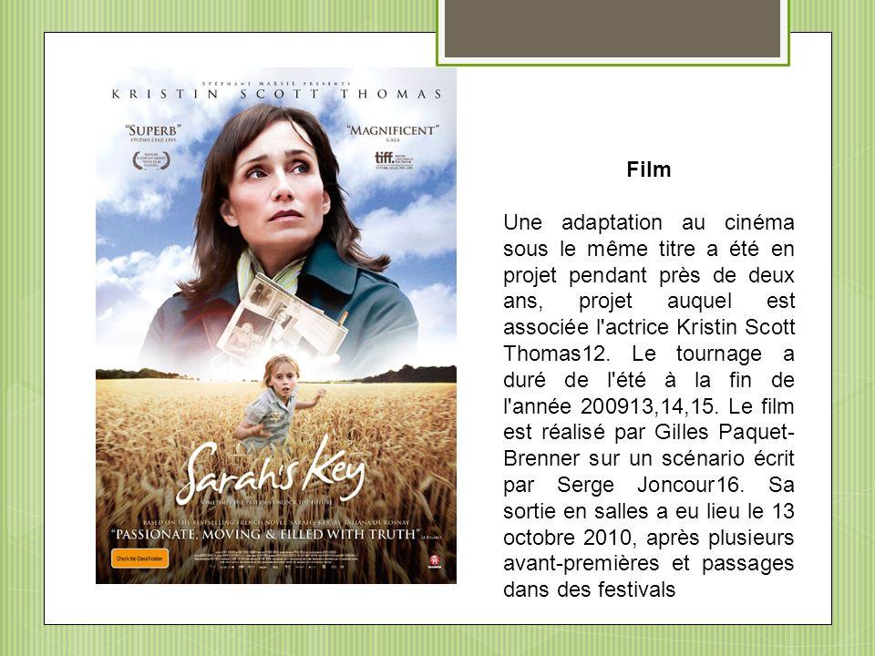 Film Une adaptation au cinéma sous le même titre a été en projet pendant près de deux ans, projet auquel est associée l'actrice Kristin Scott Thomas12