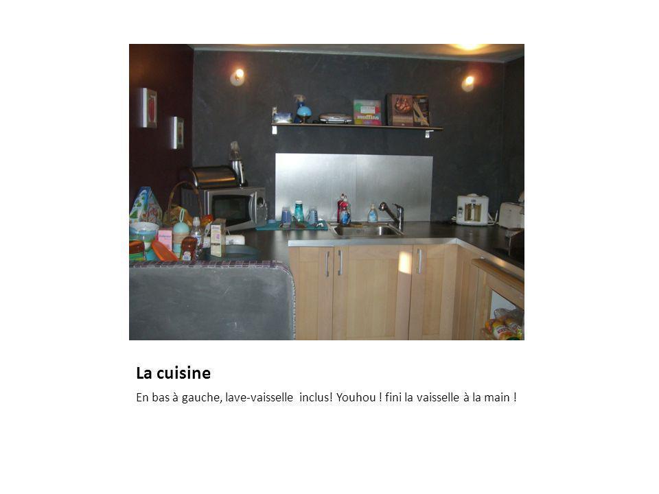La cuisine En bas à gauche, lave-vaisselle inclus! Youhou ! fini la vaisselle à la main !