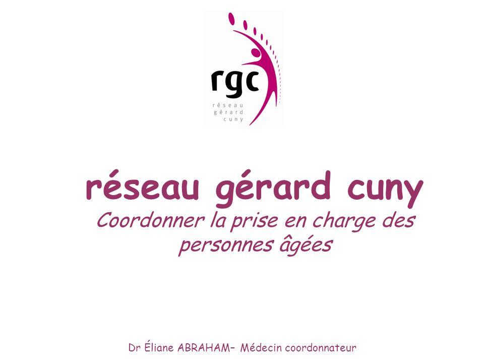 réseau gérard cuny Coordonner la prise en charge des personnes âgées Dr Éliane ABRAHAM– Médecin coordonnateur
