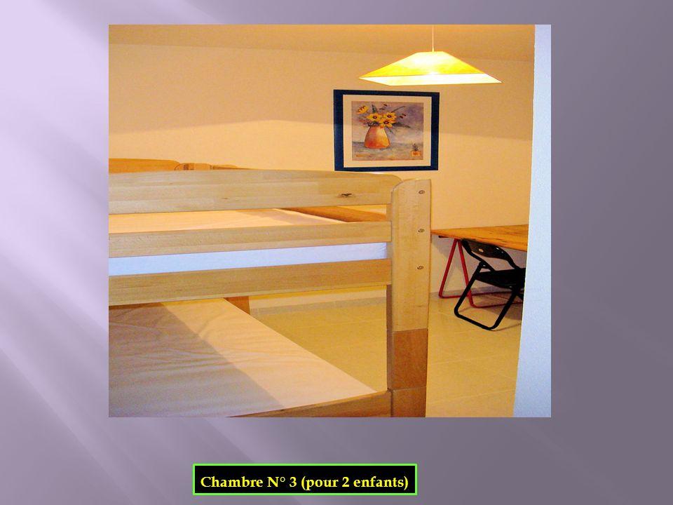 Chambre N° 3 (pour 2 enfants)
