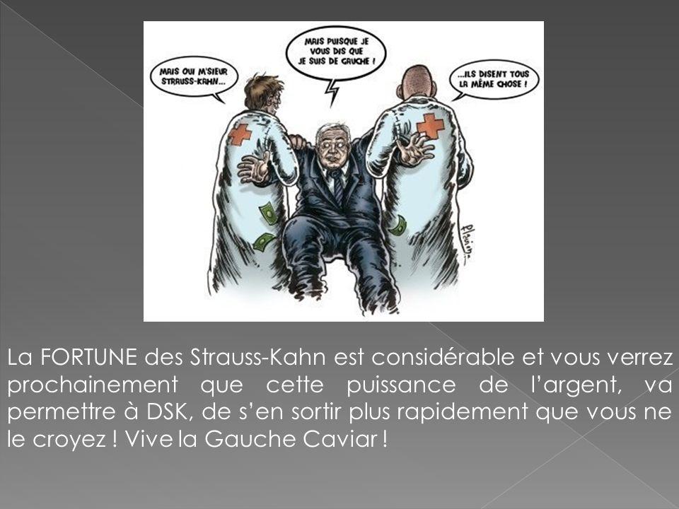 La FORTUNE des Strauss-Kahn est considérable et vous verrez prochainement que cette puissance de largent, va permettre à DSK, de sen sortir plus rapid