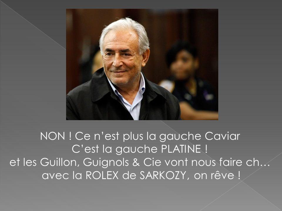 NON ! Ce nest plus la gauche Caviar Cest la gauche PLATINE ! et les Guillon, Guignols & Cie vont nous faire ch… avec la ROLEX de SARKOZY, on rêve !