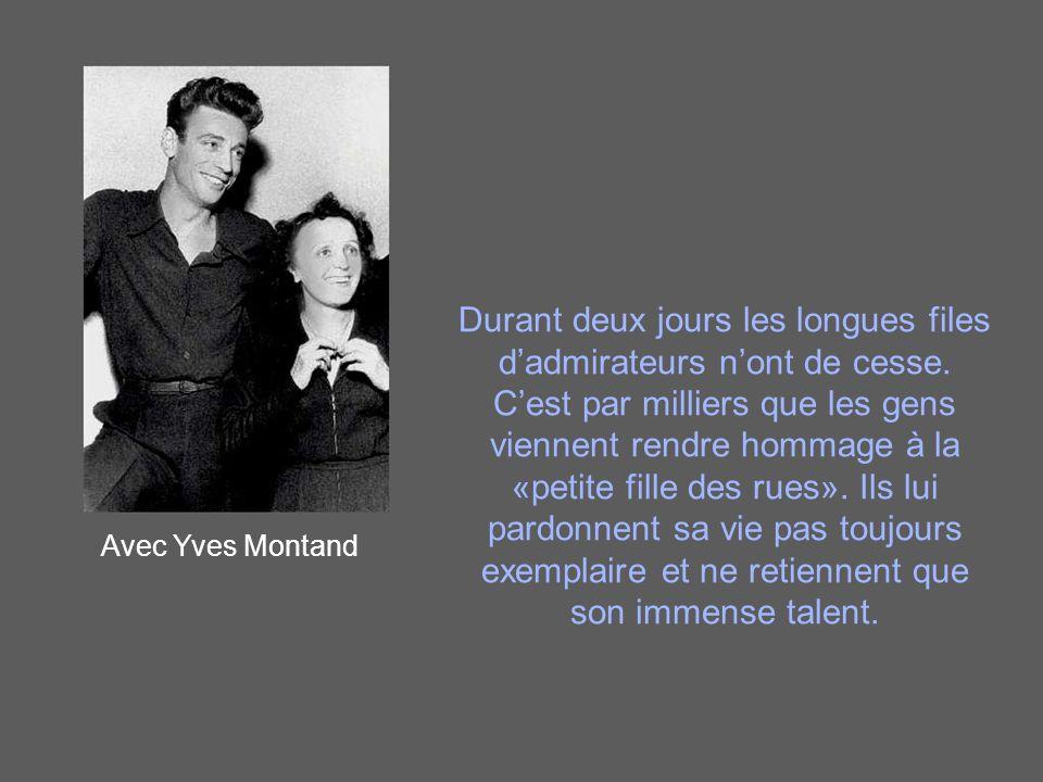 Avec Serges Reggiani En convalescence près de Grasse, Édith meurt le 10 octobre 1963, et est ramenée en douce à Paris où sa mort est officialisée le 11 octobre, le même jour que le décès de Jean Cocteau, son ami.