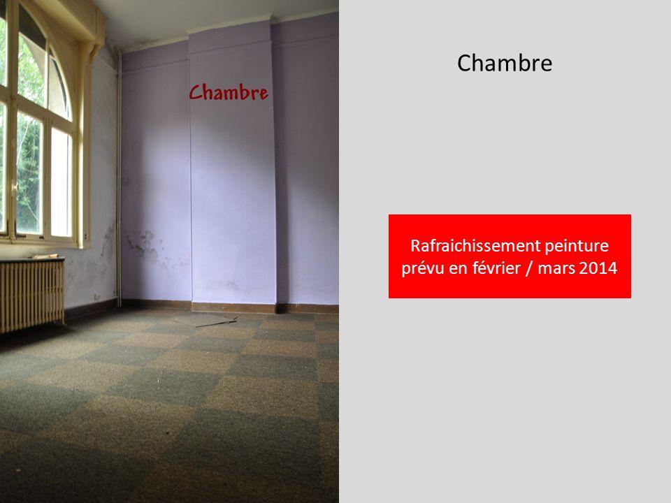Chambre Rafraichissement peinture prévu en février / mars 2014