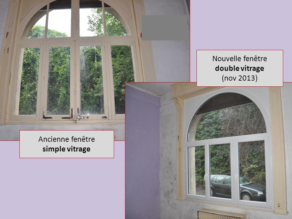 Nouvelle fenêtre double vitrage (nov 2013) Ancienne fenêtre simple vitrage