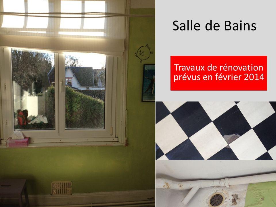 Salle de Bains Travaux de rénovation prévus en février 2014