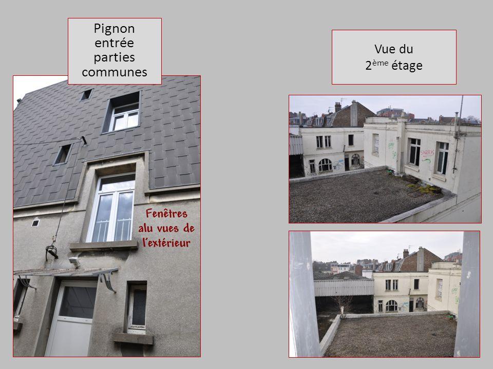 Vue du 2 ème étage Pignon entrée parties communes