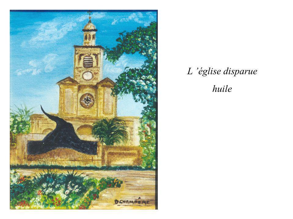 L église disparue huile