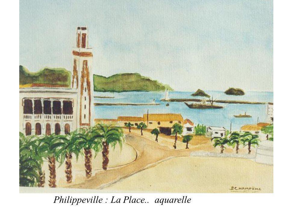 Philippeville : La Place.. aquarelle