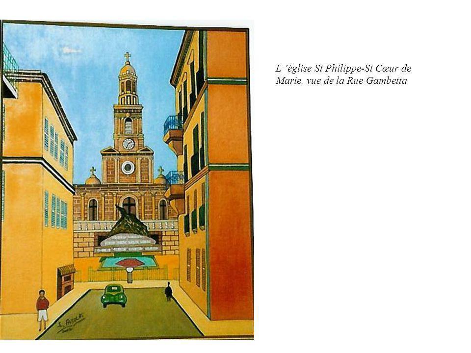 L église St Philippe-St Cœur de Marie, vue de la Rue Gambetta