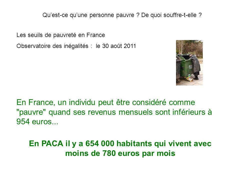 Les seuils de pauvreté en France Observatoire des inégalités : le 30 août 2011 En France, un individu peut être considéré comme