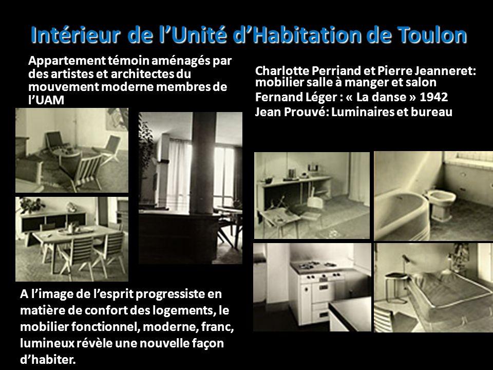 Intérieur de lUnité dHabitation de Toulon Appartement témoin aménagés par des artistes et architectes du mouvement moderne membres de lUAM Charlotte P