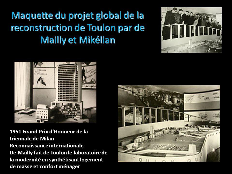 Maquette du projet global de la reconstruction de Toulon par de Mailly et Mikélian 1951 Grand Prix dHonneur de la triennale de Milan Reconnaissance in