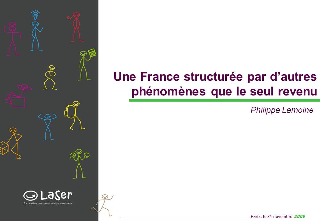 Une France structurée par dautres phénomènes que le seul revenu Paris, le 24 novembre 2009 Philippe Lemoine