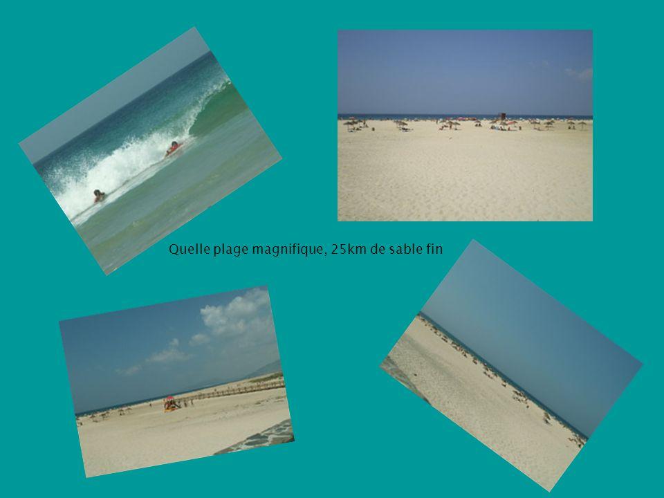Quelle plage magnifique, 25km de sable fin