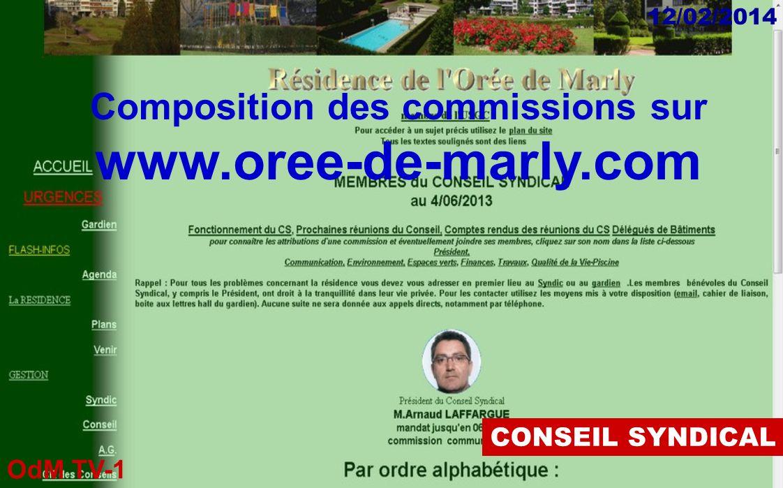 OdM TV-1 12/02/2014 Prendre rendez-vous par lintermédiaire de la Mairie 01 30 80 08 30 DECHETS Détails sur « oree-de-marly.com » Déchetterie de Bois d