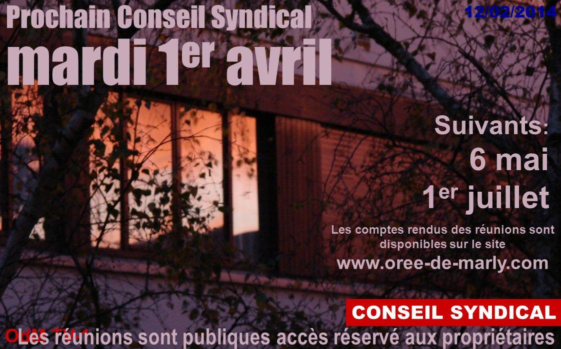 OdM TV-1 12/02/2014 CONSEIL SYNDICAL Composition des commissions sur www.oree-de-marly.com