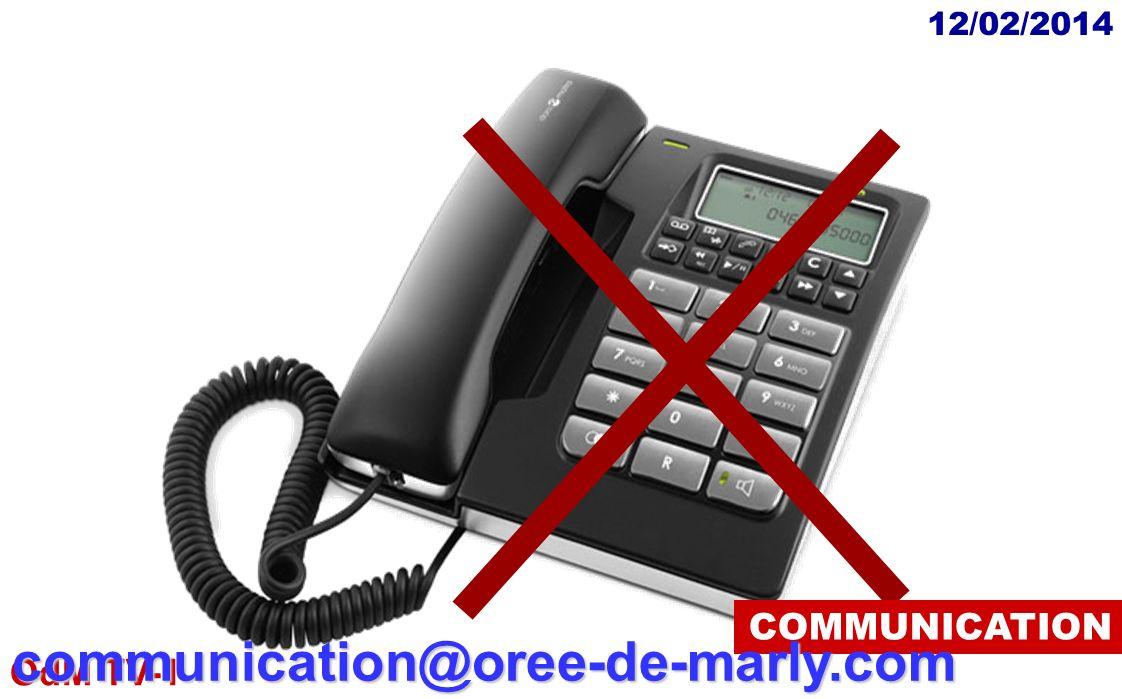 OdM TV-1 12/02/2014communication@oree-de-marly.com COMMUNICATION